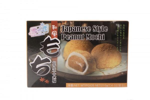 Japanische Reiskuchen Mochi - Süßigkeit aus Klebereis und Erdnusspaste