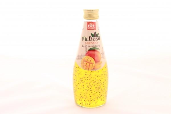 Mr. Basil Mango Fruchtgetränk mit Basilikumsamen
