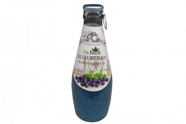 Mr. Basil Blaubeere Fruchtgetränk mit Basilikumsamen