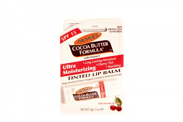 Lippenpflegestift mit Kakaobutter mit Schokolade- und Kirschduft