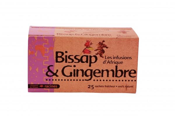 Racines Bissap (Hibiskusblüte) und Ingwer Tee