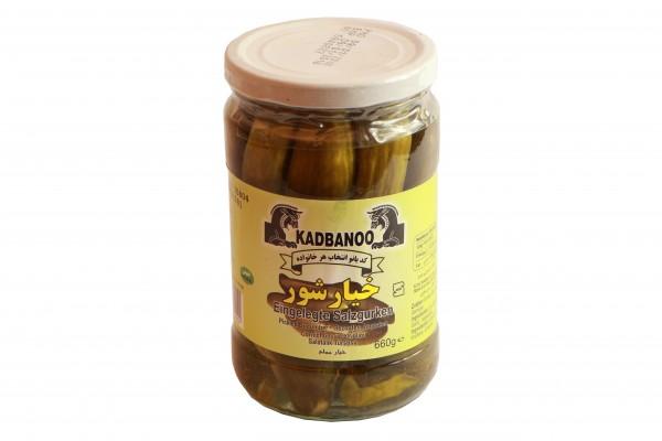 Kadbanoo eingelegte Salzgurken