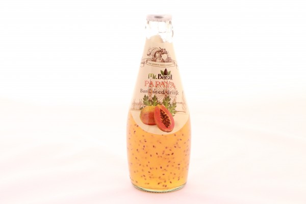 Mr. Basil Papaya Fruchtgetränk mit Basilikumsamen